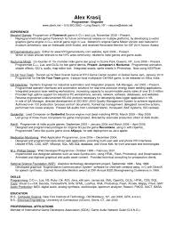 Voice Engineer Resume Perfect Programmer And Audio Engineer Resume Example With Work