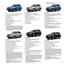 subaru forester touring 2018 2018 subaru forester brochure 2018 forester brochure