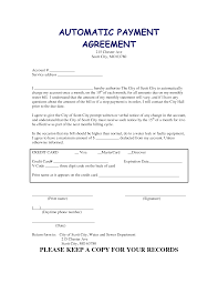 monthly payment contract template