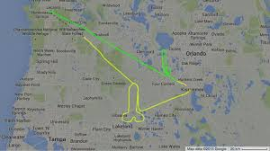 Big Penis Memes - pilot uses gps flight path to draw giant penis over disney world