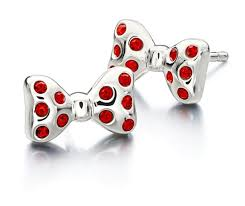 minnie mouse earrings minnie mouse chamilia silver bow earrings mickey fix