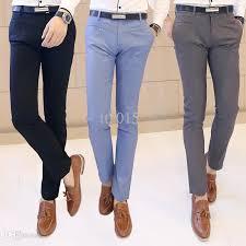 wholesale suit pants men slim fit western trousers new autumn