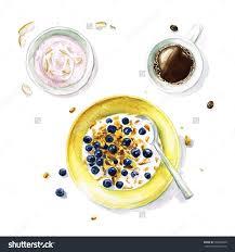 cr駱ine cuisine 早餐 水彩收集食物 食品及饮料 物体 海洛创意 hellorf