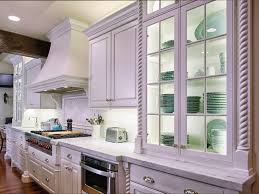 kitchen style white glass cabinet doors kitchen design cottage
