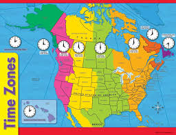 map of time zones usa and mexico usa time zones converter t38260 timezones 16p thempfa org