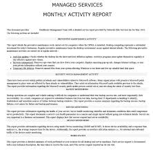 it issue report template managed it report sles network elites for monthly