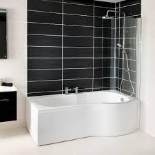 shower baths baths bathshack northern ireland 1700mm x 700mm p shape shower bath screen right hand