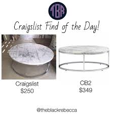 Cb2 Coffee Table by Craigslist Find Of The Day Cb2 Round Carrera Top Coffee Table