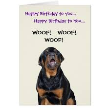 rottweiler sees the mailman birthday card zazzle