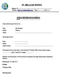 contoh surat pernyataan untuk melamar kerja surat keterangan kerja1 jpg