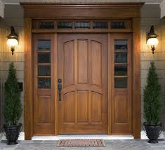 wooden front door with glass panels architecture lovely design for your home decorating ideas using