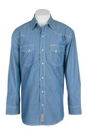 rafter c cowboy collection men u0027s chambray l s western snap shirt