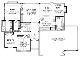 floor plan blueprint open floor small home plans ranch with open floor plan