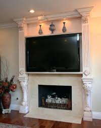 mounting tv above fireplace hiding wires mount brick hide lcd