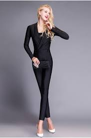 formal jumpsuit sleeve black jersey formal occasion evening jumpsuit