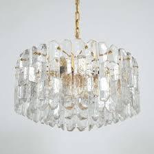 Gold Glass Chandelier J T Kalmar Gold Brass Tiered Crystal Glass Chandelier Palazzo