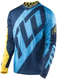 motocross jersey sale troy lee designs gp quest jersey blau gelb motocross jerseys