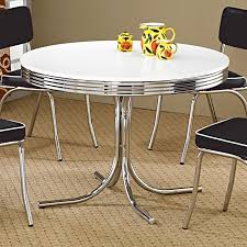 chrome round dining table cleveland round chrome plated dining table casual kitchen dining
