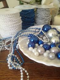 white 4mm pearl string 10 meters long for wedding decors