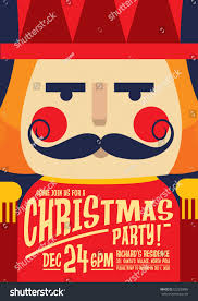 Sample Invitation Card For Christmas Party Nutcracker Christmas Party Invitation Card Template Stock Vector