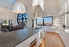 how high is a kitchen island clock tower apartment open plan kitchen island in high gloss