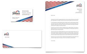 Microsoft Word Template Business Card Political Campaign Business Card U0026 Letterhead Template Word
