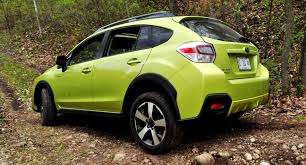 subaru crosstrek black wheels off road test review 2014 subaru xv crosstrek hybrid is