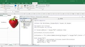 excel vba insert picture from directory on cell value change