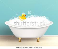 Foam Under Bathtub Bathtub Cast Shadow On Bathroom Poster Stock Illustration