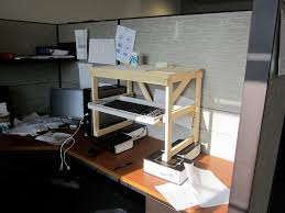 Diy Stand Up Desk Home Made Standing Desk To Do Pinterest Diy Standing Desk