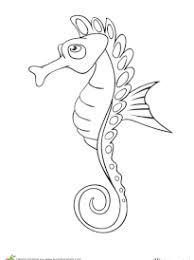 coloriage hippocampes sur hugolescargot com