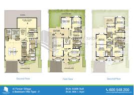 floor plans of al forsan village 5 bedroom villa 8666 sqft