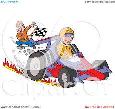 Finish Line Flag Clipart Happy Man Waving A Checkered Flag At A Race Car Driver At