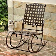 Outdoor Patio Rocking Chairs Outdoor Wicker Rocking Chair With Cushion Patio Furniture Shop