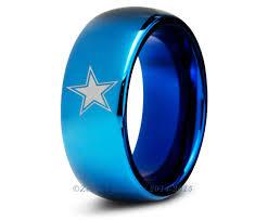 blue moose wedding band dallas cowboys blue tungsten wedding band ring mens womens