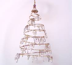 tinsel tree ornament gift silver n gold