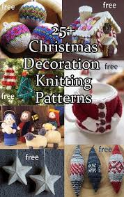 Knitted Reindeer Christmas Decorations by Best 25 Christmas Knitting Patterns Ideas On Pinterest