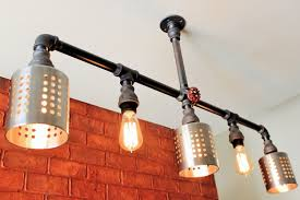Steunk Light Fixtures Pipe Lighting Chandelier W Cages Magnificent How To Makepunk