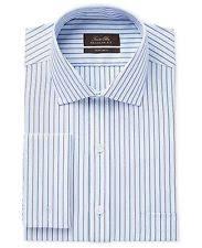 tasso elba 100 cotton striped french cuff men u0027s dress shirts ebay