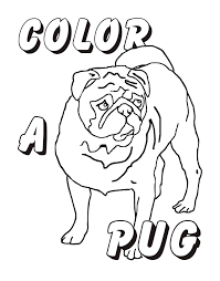 printable pug coloring pages coloring