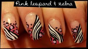 pink leopard zebra nail art youtube pink zebra nail art nails