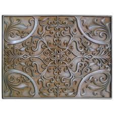 kitchen backsplash metal medallions soci metal resins tile plaque ssgr 1377 kitchen backsplash