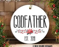 godparent ornament etsy