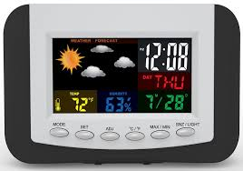 Cool Digital Wall Clocks Amazon Com Weather Station Alarm Clock With Large Easy To Read