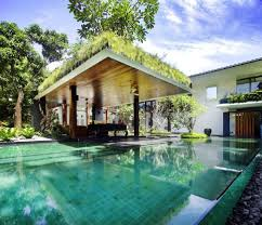 green home designs modern green home design with open room and garden pool view and