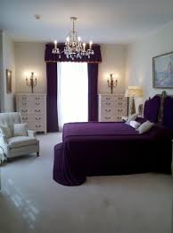 White Accent Chair Bedroom Romantic Purple Bedroom Decoration Matched With Comfy