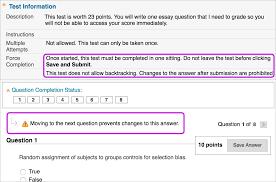 tests and surveys blackboard help