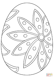 stylish and peaceful white easter egg coloring pages free