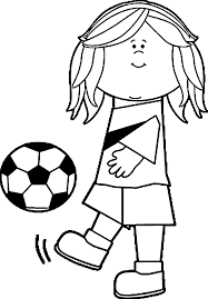 soccer playing football coloring page wecoloringpage