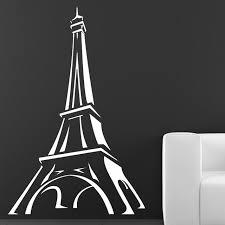 Eiffel Tower Garden Decor Promotion Paris Wall Decal Cartoon Eiffel Tower Wall Decor Sticker